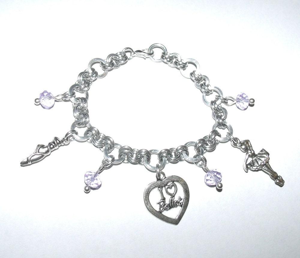 Ballet Charm Bracelet: Ballet Charm Bracelet Dance Charm Chainmail Bracelet Ballet