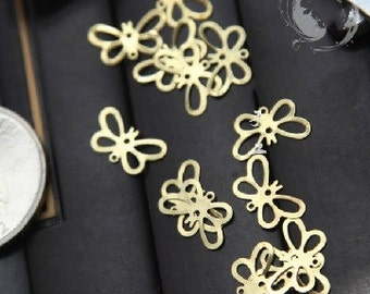 30 pcs of antique gold or silver  little butterfly charm pendants  13x8mm