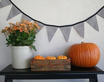 Fall Festive Bunting Banner - Fabric Bunting- Flags-Pennants