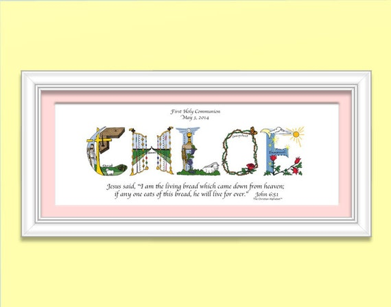 First Communion Gifts for Girls by TheChristianAlphabet on ...