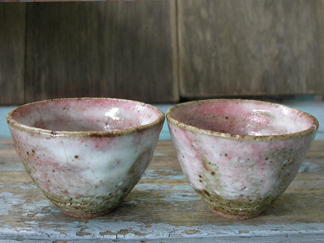 Pink Bowl Japanese Ceramics Tea Bowls Wabi Sabi Ceramics