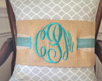 Wrap Your Home in Style with a Monogrammed Pillow!