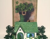 St Patrick Day Putz House.