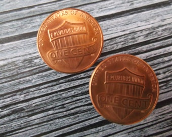 United States One Cent Coin Cuff Links -   US Coin Cuff Links -Coin Cuff Links -