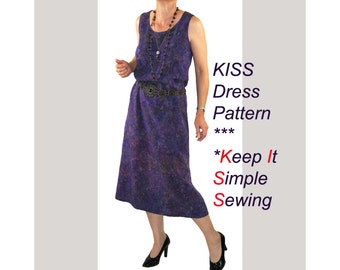 KISS Dress Sewing Pattern, Keep It Simple Sewing Easy Dress Pattern, BSS156