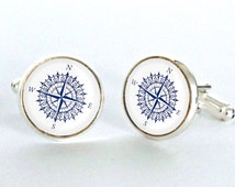Compass Cufflinks-Vintage Compass ,Vintage World Map Cufflinks-cufflinks Map-Cool Gifts for Father- men and women hipster Accessories