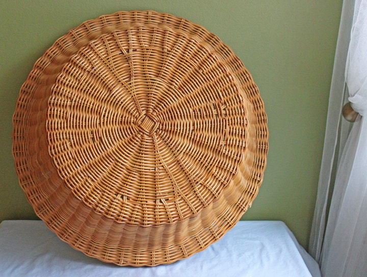 Wicker Basket Extra Large Basket With Metal Frame Inside
