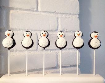 12 Penguin Cake Pops