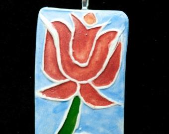 Lotus Porcelain Necklace