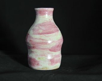 Pink and White Bottle