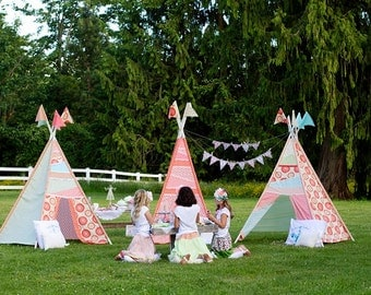 Tea Party Tent Glam C&ing TeePee Girl Gl&ing Outdoors Birthday Party - Printable Customized Package & Glamping tents | Etsy