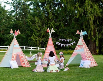Tea Party Tent Glam C&ing TeePee Girl Gl&ing Outdoors Birthday Party - Printable Customized Package : girly tents - memphite.com