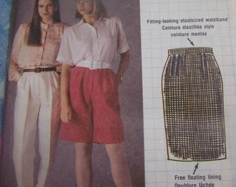 Busy Woman's McCalls 4087, UNCUT sewing pattern, misses, womens, skirt, pants, shorts Size 12