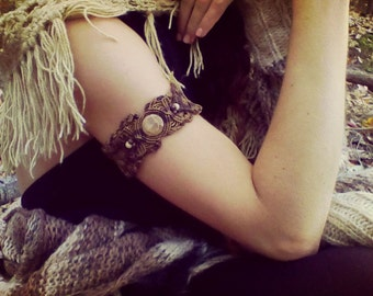 Brown Mother Earth Powerful natural Fosil Bracelet