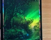 1x Forest #3.1 *FOIL* Textless Full Art Custom Altered Basic Land MTG