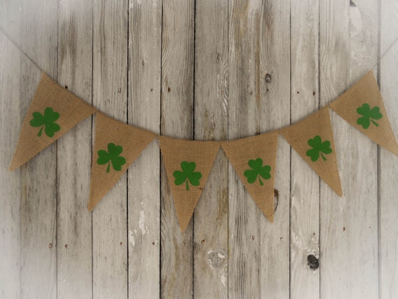 Shamrock Garland St Patricks Day