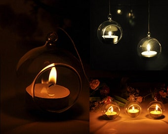 HOT Home Decoration Hanging Terrarium Hanging glass container Hanging Candle holder Wedding Decoration Centerpieces