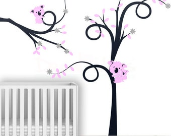 Koala Nursery Wall Decal - Koala Wall Decal - Koala Tree Wall decal - Koala Boys Room wall decal - Nursery Wall Stickers