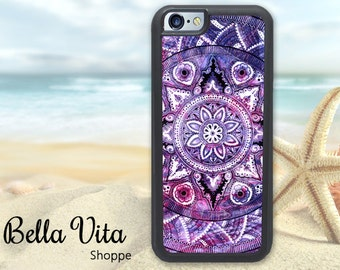 Purple Mandala iPhone 5C Case, iPhone 5C Case, Pretty iPhone 5C Case I5C I5C