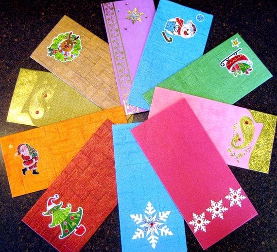 5 Money envelopes shagun envelopes Christmas money by Rosmina