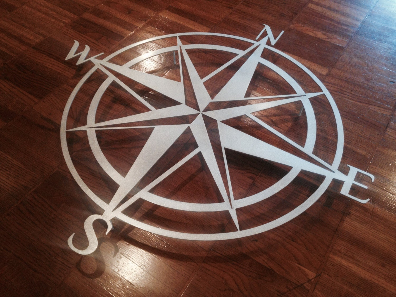 Giant Outdoor Wall Decor : Giant compass metal wall art abstract decor by