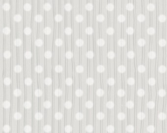 Half Yard Snuggle Buddies - Dotted Stripes in Gray - Cotton Quilt Fabric - by Stacey Yacula for Quilting Treasures - 23438-K (W2279)