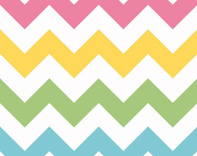One Yard Large Chevron - Girl Colors - Cotton Quilt Fabric - C330-03 - Riley Blake Designs (W2477)