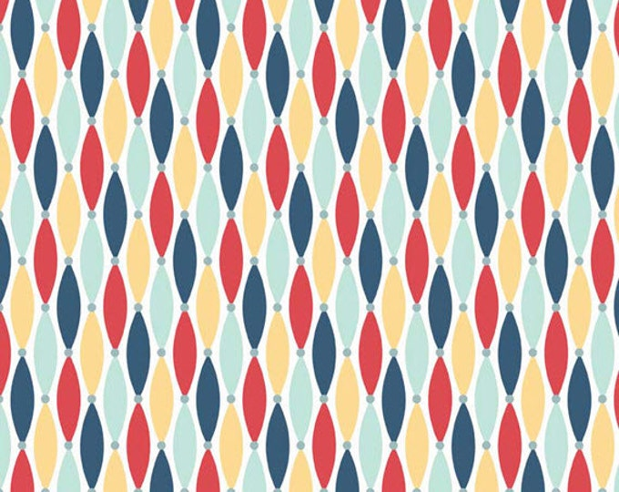 Half Yard Fly Aweigh - Lures in Yellow - Nautical Cotton Quilt Fabric - C3875-YELLOW - by Samantha Walker for Riley Blake Designs (W2530)