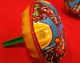 Vintage 1930's Tin Litho Clown Party Noisemakers Rattles