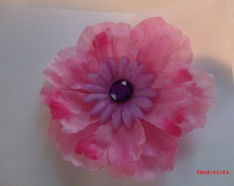 Light Pink & Lilac Flower Pin
