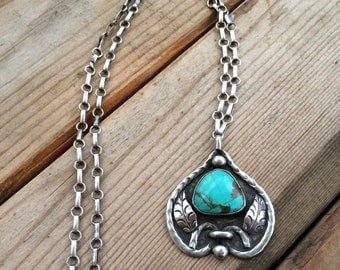 Southwestern Genuine Turquoise Necklace