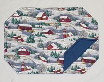 Custom Placemats - WINTER SCENE