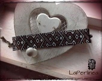Beaded Peyote Bracelet