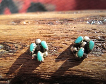 Turquoise and Sterling Stud Earrings