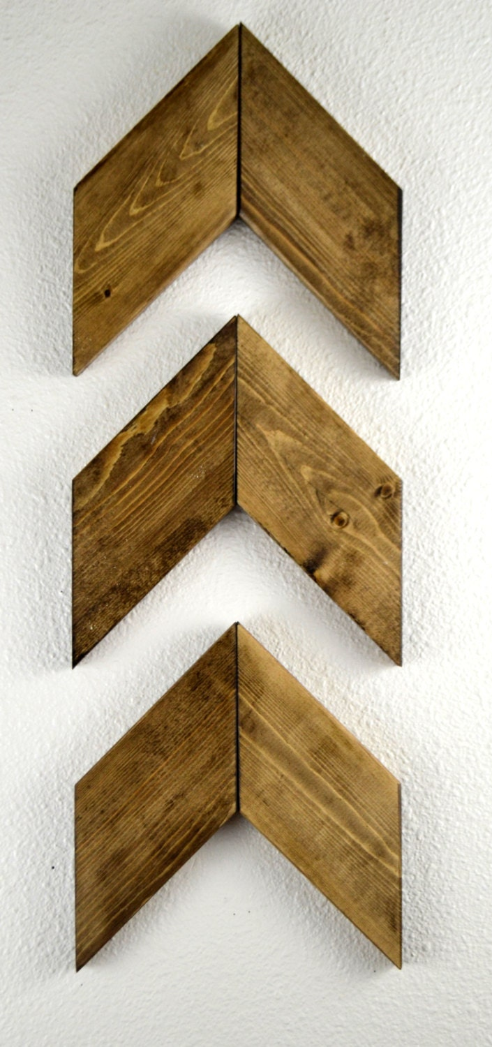 Rustic wood arrows set of 3 wall arrows unique gift rustic for Rustic wood wall art