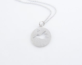 Hummingbird Necklace | Simple pendant necklace, Dainty bird necklace, Sterling silver pendant necklace, Disc necklace