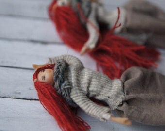 Primitive Norway wind fisherman dual fairy two natured creepy doll