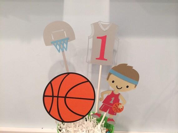 basketball centerpiece baby shower happy birthday banner sports