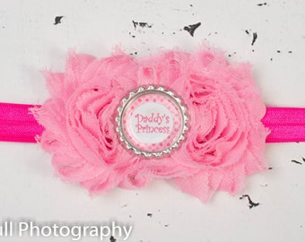 Daddy's Princess Pink Baby headband, Baby headbands, Daddy's girl headband,newborn pink headband,Valentines Day Headband,baby girl headband.