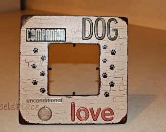 Dog/Canine/ Companion/ Paw Print/ Pet Picture frame