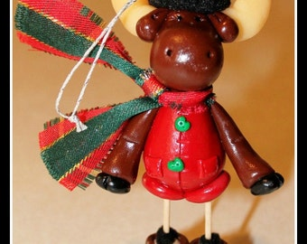Moose Christmas Tree Ornament/ Christmas Moose Ornament /Tree Decor/ Moose Decoration /Moose Lover Gift Stocking Stuffer