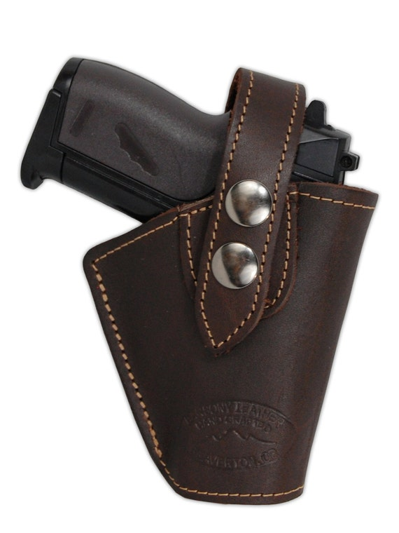 new brown leather owb belt gun holster for mini 22 25 32