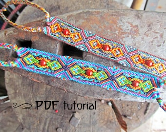 Friendship bracelet pattern, friendship bracelet tutorial 'Before Nighttime', bracelet tutorial, friendship bracelet PDF, bracelet pdf