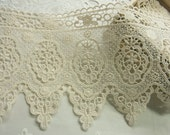 1Yard Vintage style Cotton Crochet Lace Trim - lovely Flower