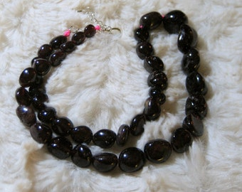 JEWELRY SALE! Natural Garnet Gemstone Necklace-Garnet Necklace-Garnet Gemstone Necklace, Garnet Jewelry, Garnet Agate Necklace