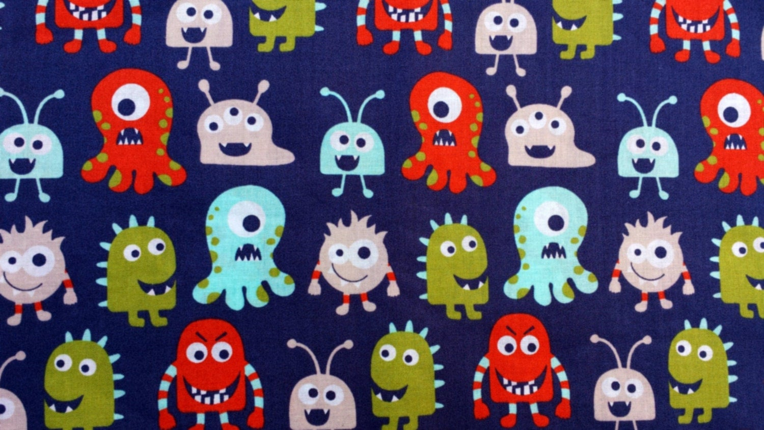 Monsters kid 39 s fabric boy fabric baby by littlelauraloucrafts for Baby monster fabric