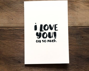 I Love You! Oh So Much card