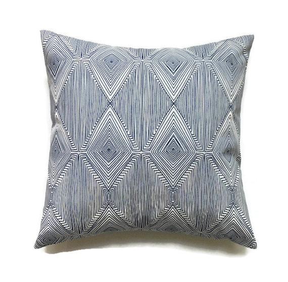 Blue Throw Pillow 20x20 : Blue Pillow 20x20 Pillow Cover Geometric Throw Pillow Toss