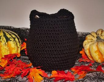 Crochet Treat Bag Black Cauldron