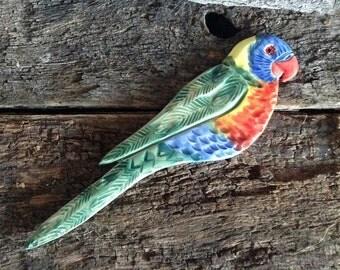 Mosaic Tile - Ceramic Bird - Australian Rainbow Lorikeet, Handmade